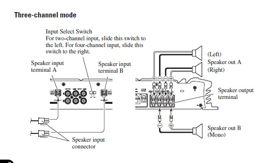 how to run an amp in bridge mode