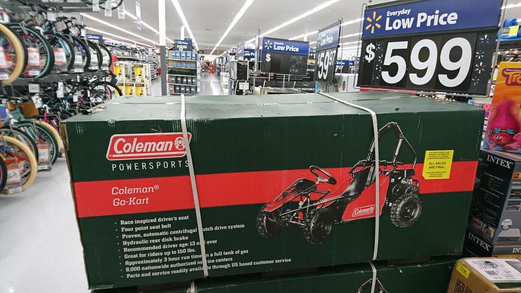 Coleman Go Kart At Walmart Bob Is The Oil Guy