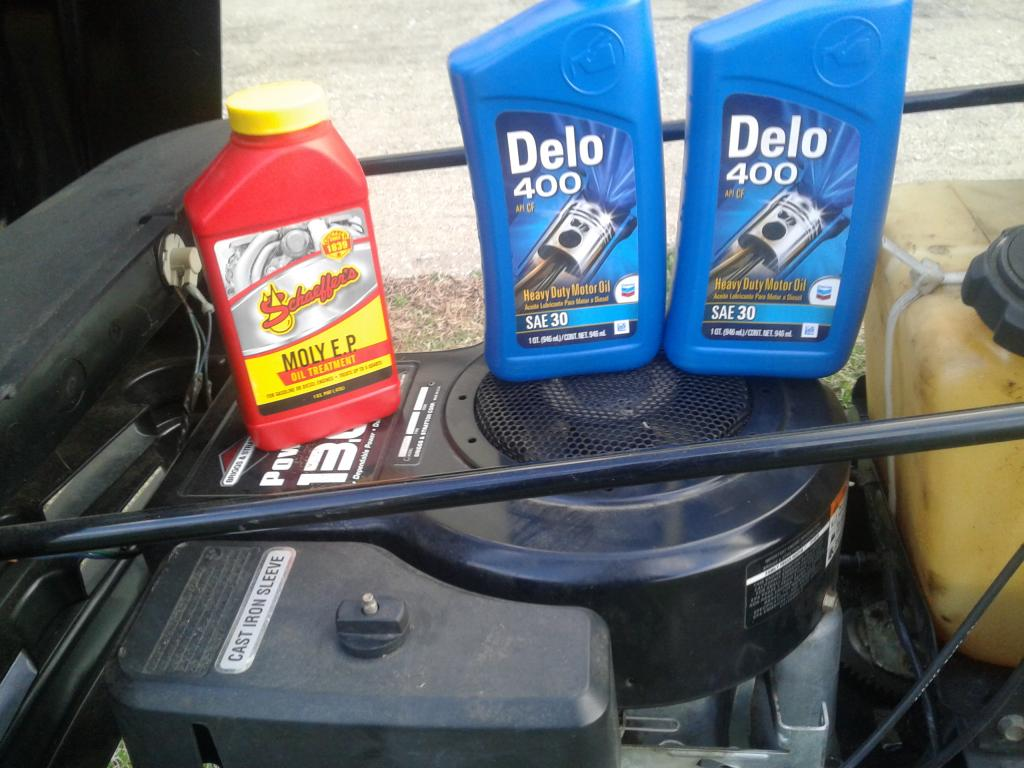 Post your latest small engine oil change - Bob Is The Oil Guy