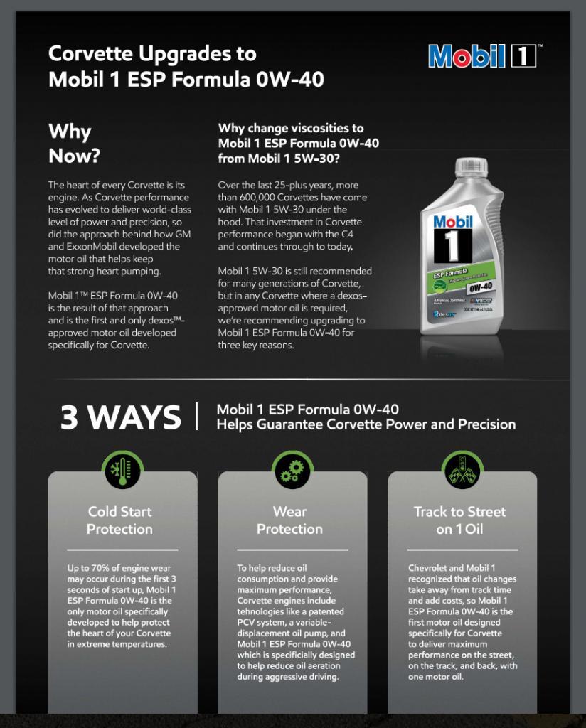 Mobil 1 esp formula 5w 30 synthetic motor oil 4 l vw 50700 5liter.