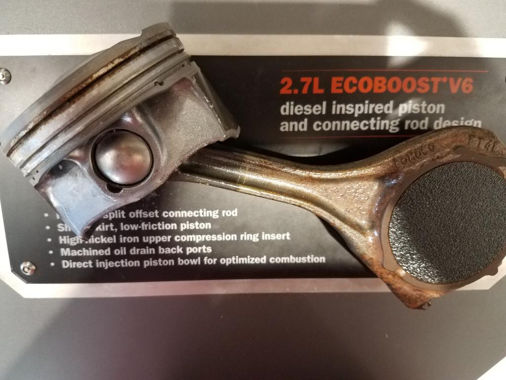Ford 27 Ecoboost Piston Design Bob Is The Oil Guy Big Block Pistons Image Taken While At A Local Dealership