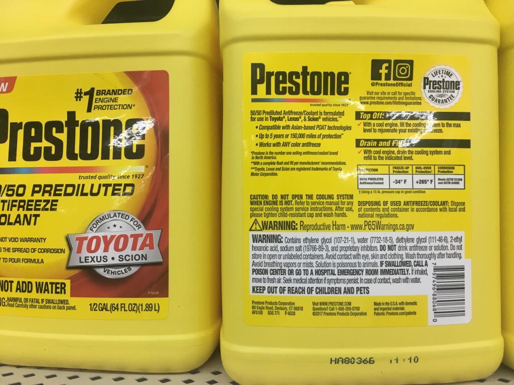 Prestone specific coolants for Toyota, Honda, Euro - Bob Is The Oil Guy