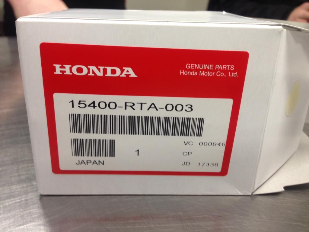 Genuine OEM Oil Filter for HONDA 15400-RTA-003