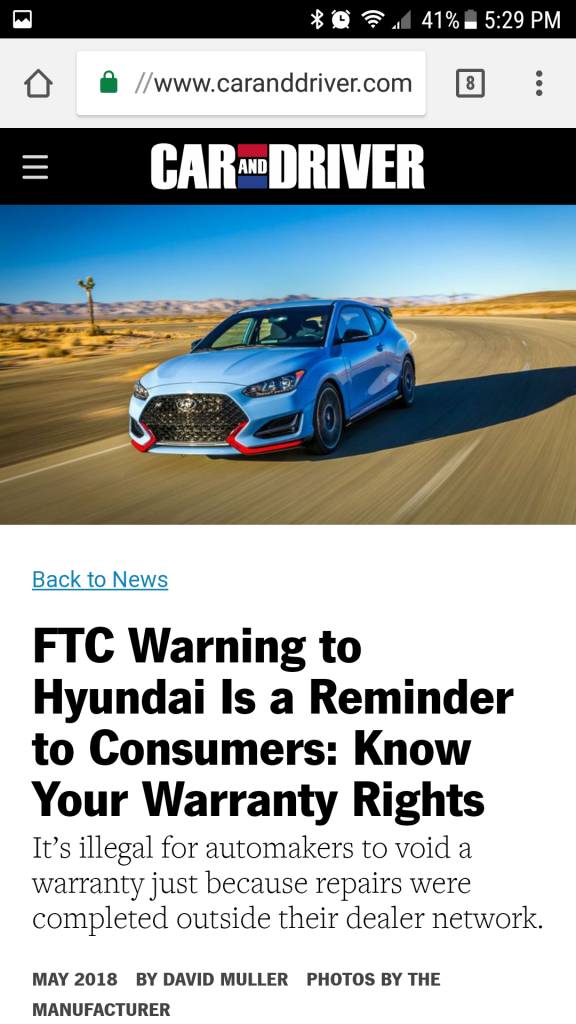 Ftc Warns Hyundai Bob Is The Oil Guy