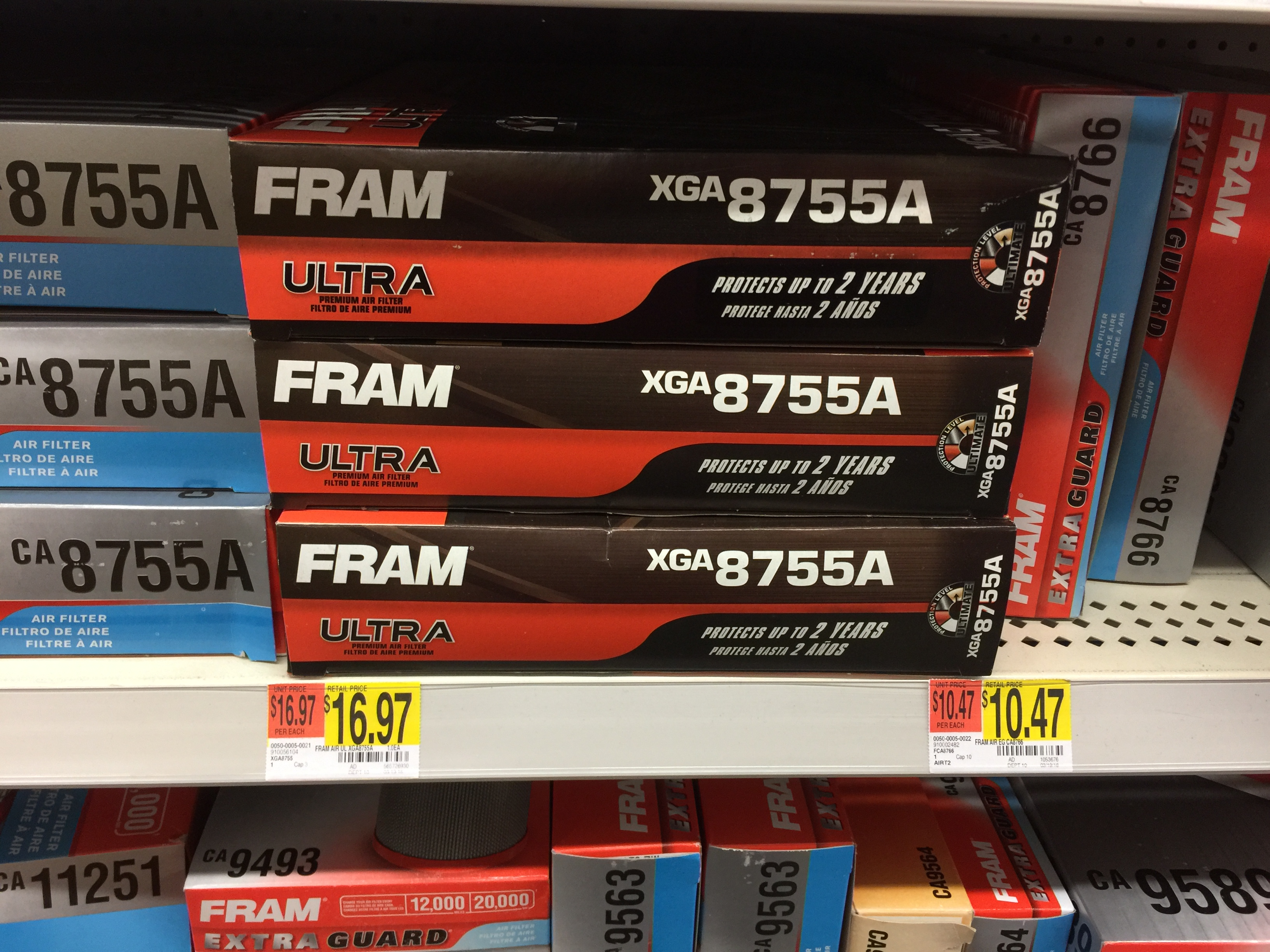Did Fram do away with the Tough Guard air filters & replace them with the  Ultras? $16.00 for a Ultra is a good buy if they re better than the Tough  Guards.