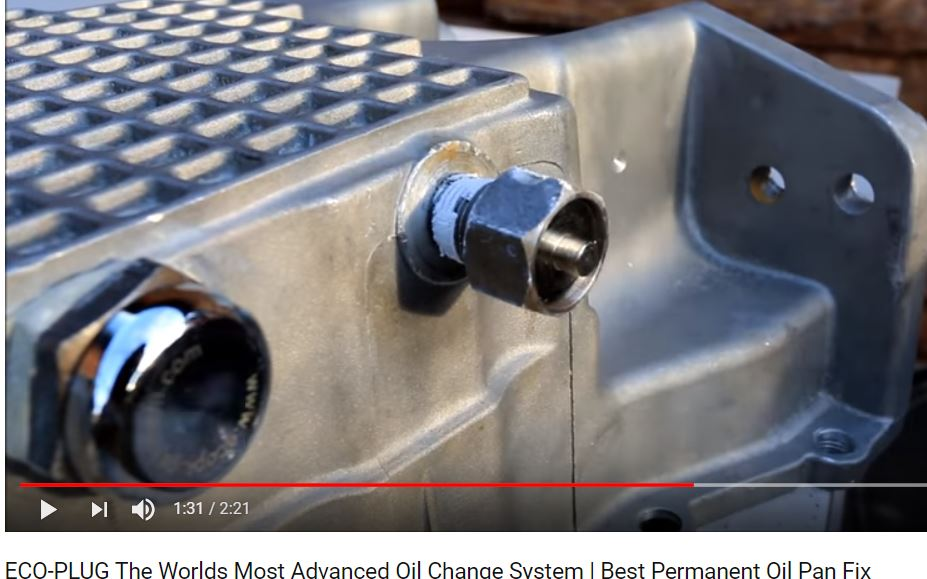 What Is Up With The Tapered Plug That Sticks Out And Captures Only A Few Threads At Edge Of Threaded Pan Hole Horrible Engineering Design