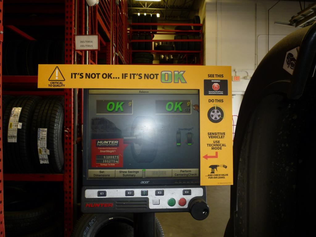 Balance machines notice, Discount Tire  - Bob Is The Oil Guy